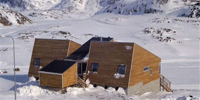 Low energy house in Sisimiut, Greenland.